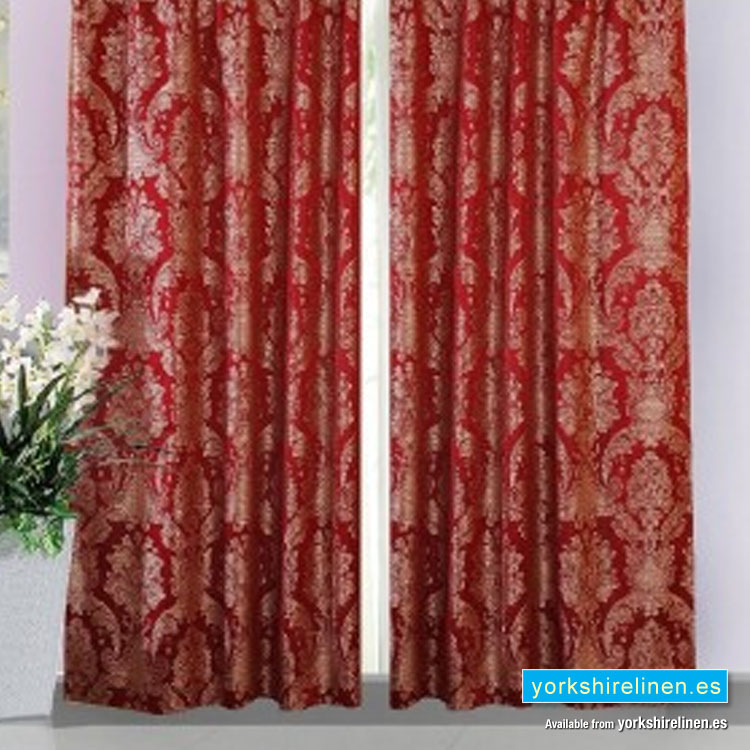 Carrington Wine Lined Curtains