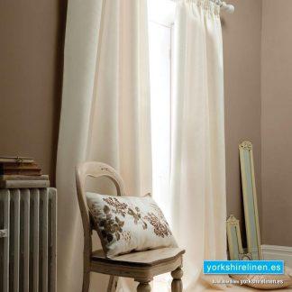 Faux Silk Cream Pencil Pleat Curtains