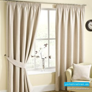 Rico Champagne Pencil Pleat Curtains