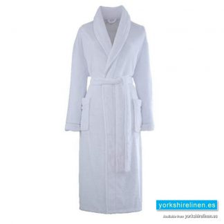 White Polyester Dressing Gown
