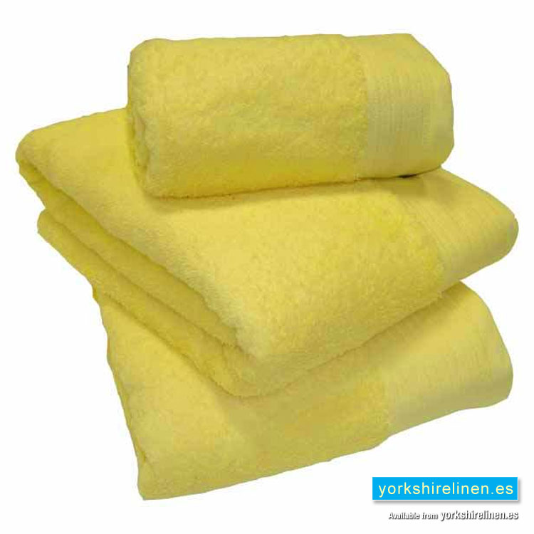 Luxury Egyptian Cotton Lemon Yellow Towels Yorkshire