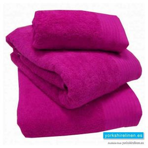 Luxury Egyptian Cotton Towels in Magenta Pink