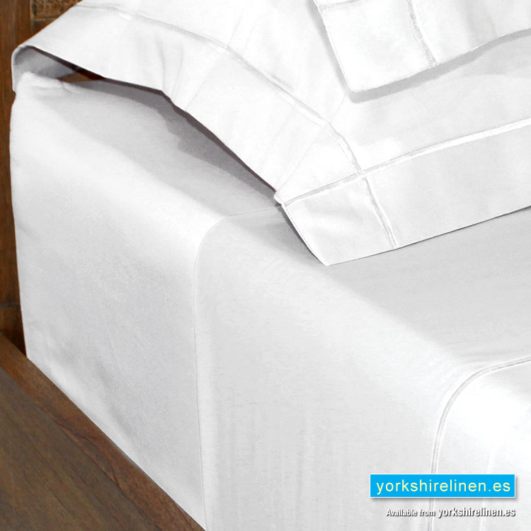 Egyptian Cotton Fitted Sheets 200 Thread Count, White