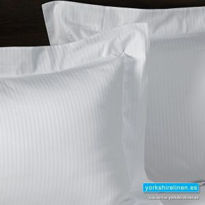Hotel Stripe Oxford Pillow Cases, 540 Thread Count, White