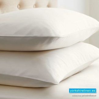 Ivory Egyptian Cotton Pillowcases 200 Thread Count