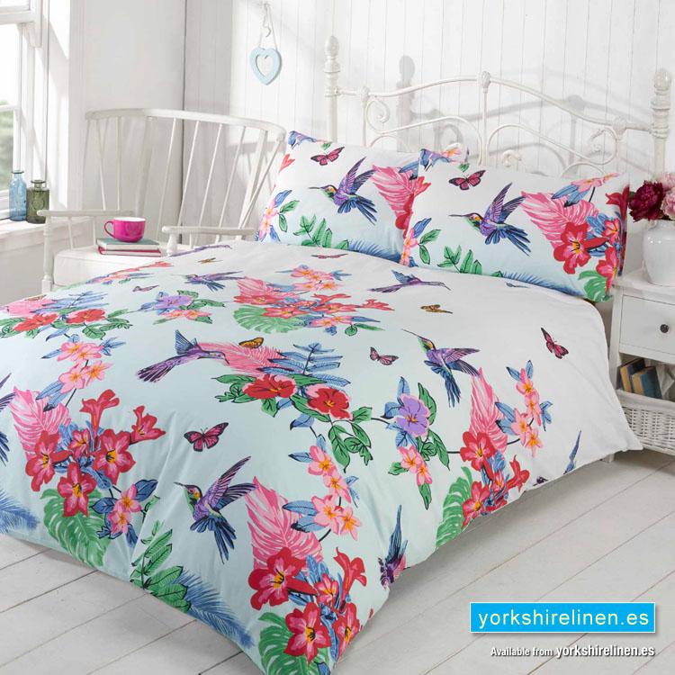 Hummingbird Tropical Duvet Cover Set Yorkshire Linen