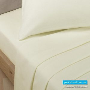 Polycotton Percale Fitted Sheets New Ivory