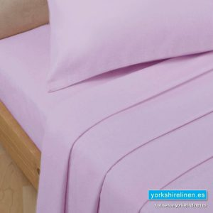 Polycotton Percale Fitted Valanced Sheets, Soft Pink
