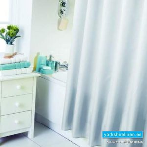 Waterline White Shower Curtain
