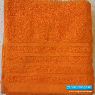 Diamond Bright Orange Cotton Towels