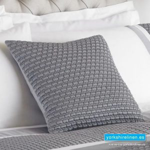 Honeycomb White & Silver Cushion Cover