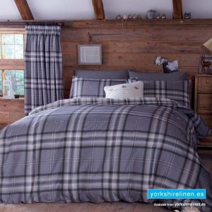 Kelso Charcoal Duvet Cover Set