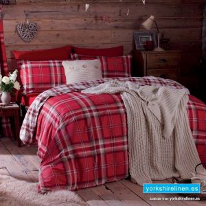 Kelso Red Duvet Cover Set