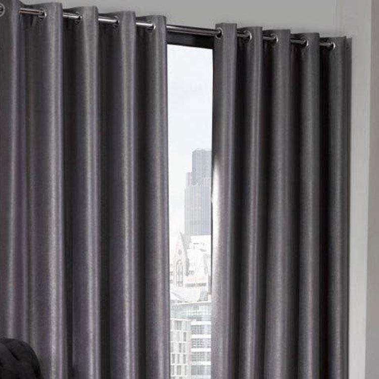 Logan Silver Eyelet Ring Top Thermal Blackout Curtains