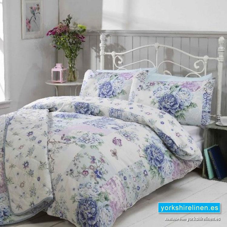Oriental Blue Duvet Cover Set Yorkshire Linen S L