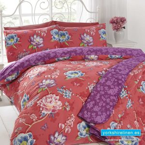 Sapporo Coral Duvet Cover Set