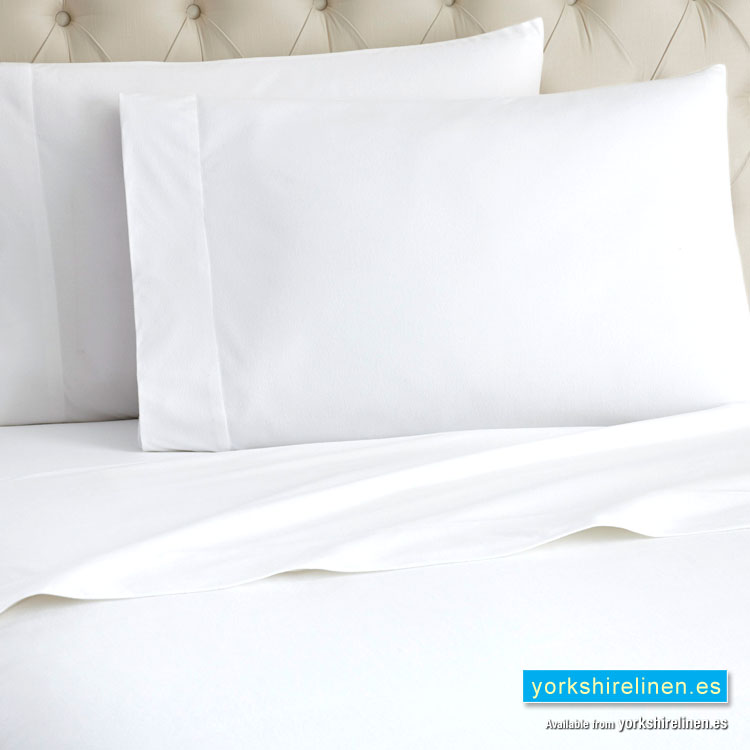 white flannelette fitted sheet yorkshire linen warehouse. Black Bedroom Furniture Sets. Home Design Ideas