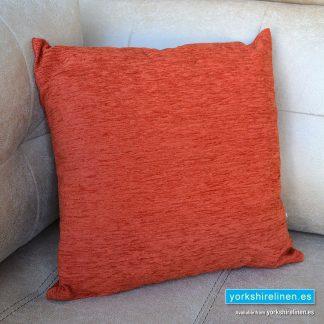 Chenille Basic Autumn Orange Cushions