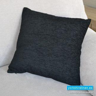 Chenille Basic Black Cushions