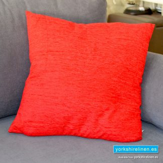 Chenille Basic Red Cushions