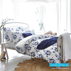Bianca Sprig Cotton Print Blue Duvet Cover Set