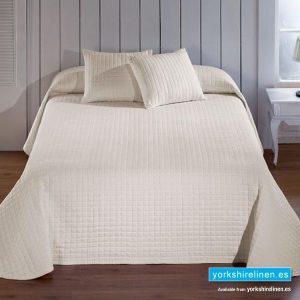 Calgari Cream Bedspread, Bedding from Yorkshire Linen Spain