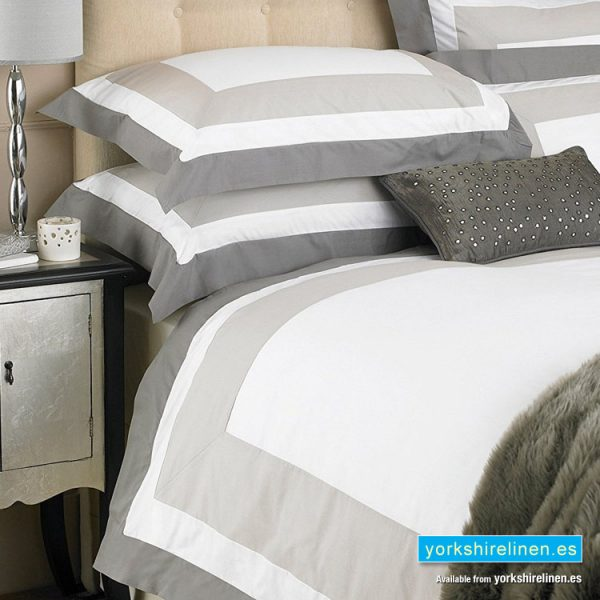 Cambridge Taupe Cotton Duvet Cover Set - Bedding from Yorkshire Linen, Fuangirola, Mabrella, Spain