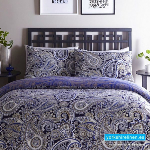 Luxury Topaz Paisley Duvet Cover Set - Bedding from Yorkshire Linen Fuengirola Marbella Spain