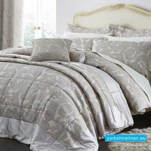 Opulent Jacquard Champagne Bedspread - Bedding from Yorkshire Linen Fuengirola Marbella Spain