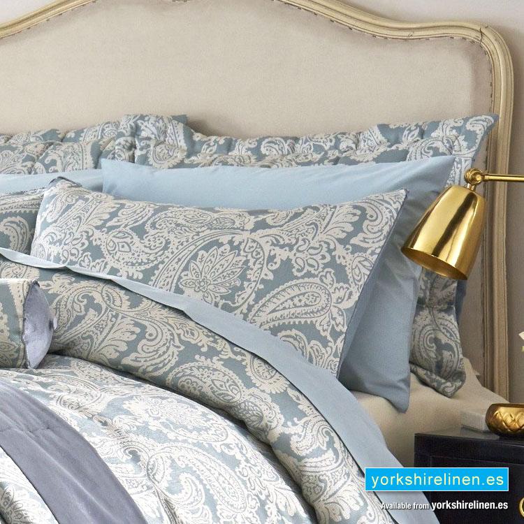 Opulent Jacquard Duck Egg Blue Pillow Sham Yorkshire