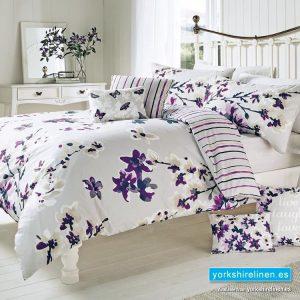 Sakura Mauve Floral Duvet Cover Set - Bedding from Yorkshire Linen Fuengirola Marbella Spain