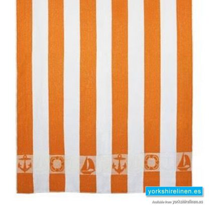 Striped Beach Towel, Orange