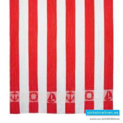 Striped Beach Towel, Red