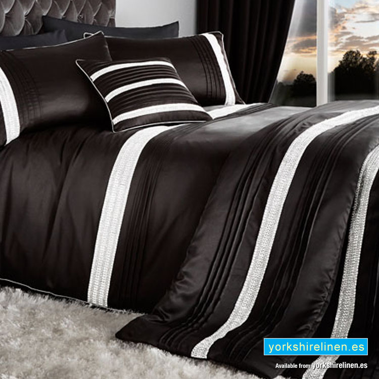 glam diamante black bedspread yorkshire linen warehouse s l