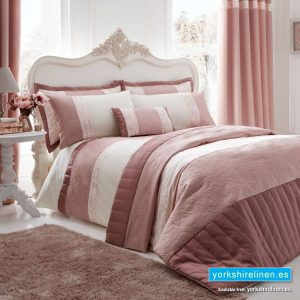 Catherine Lansfield Gatsby Pink Duvet Cover Set from Yorkshire Linen, Mijas Costa, Marbella, Spain