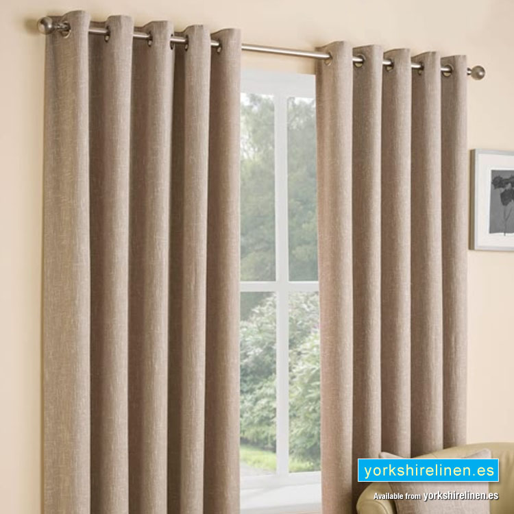 Huxley Oatmeal Ring Top Curtains From Yorkshire Linen Warehouse Mijas Costa Marbella