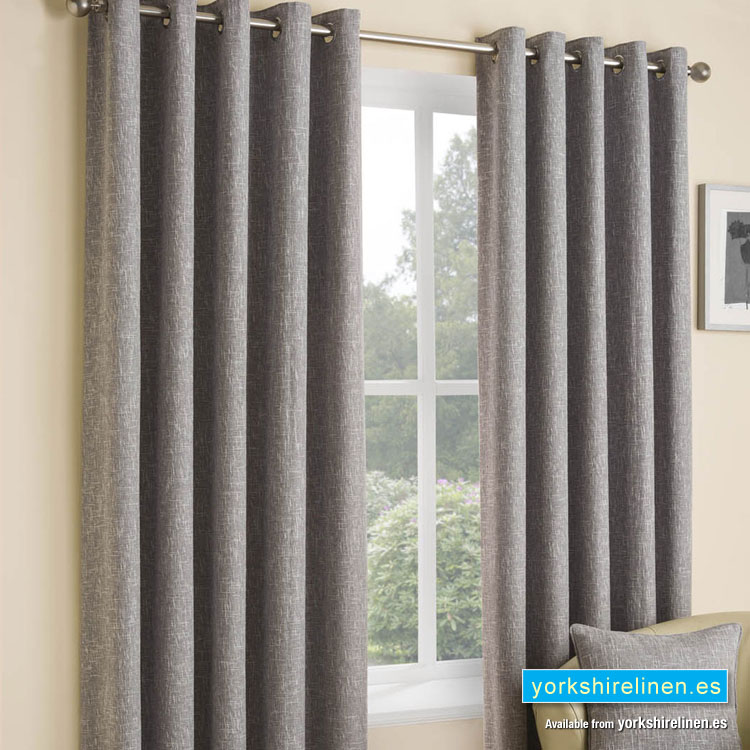 Huxley Silver Ring Top Curtains From Yorkshire Linen Warehouse Mijas Costa Marbella