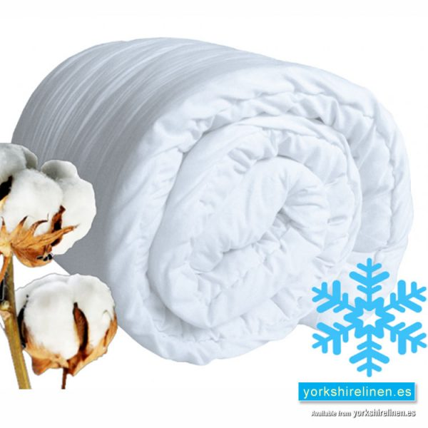 Luxury Cotton 13.5 TOG Double Hollowfibre Duvet, Yorkshire Linen Warehouse