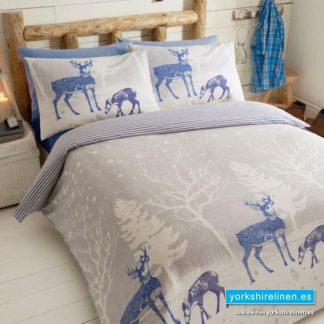 Starlight Forest Flannelette Duvet Cover Set, Blue - Yorkshire Linen Warehouse
