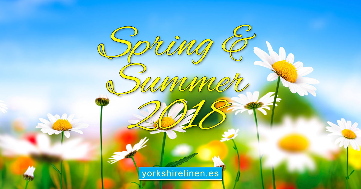Spring Summer 2018 Inspirational Ideas from Yorkshire Linen, Spain.