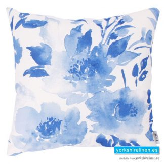 Delicate Floral Blue Cushion
