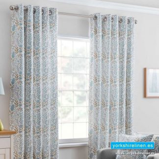Everley Azure Ring Top Curtains