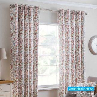 Everley Cinnamon Ring Top Curtains