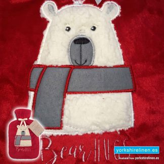 Hot Water Bottle with Cover - Bear Hugs - Yorkshire Linen Warehouse, Mijas Marbella Spain
