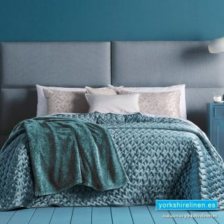 Serene Bedspread, Duck Egg Blue - Yorkshire Linen Warehouse