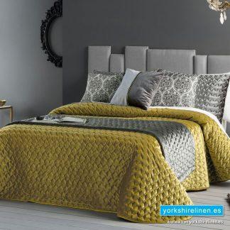 Serene Bedspread, Mustard - Yorkshire Linen Warehouse