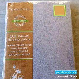 Flat Flannelette Sheet Silver Grey - Yorkshire Linen Warehouse Mijas Prestige Marbella