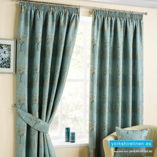 Arden Duck Egg Pencil Pleat Curtains