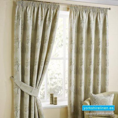 Arden Natural Pencil Pleat Curtains