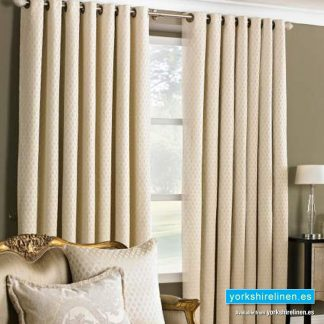 Devere Cream Ring Top Curtains